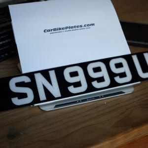 double line acrylic number plate