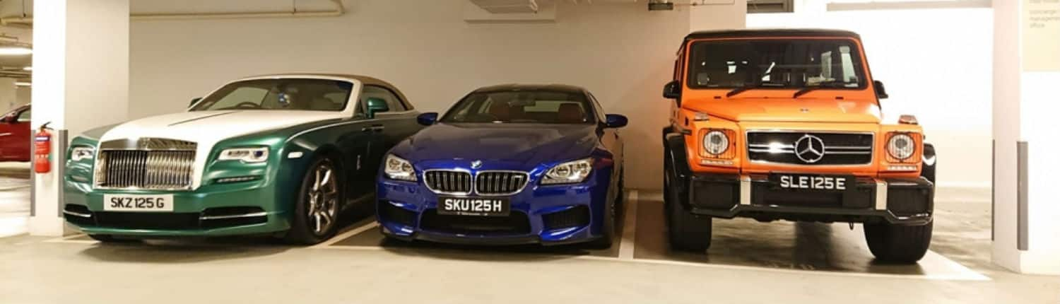 Different cars with same number plate